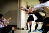 """日乐队学生""""龙珠Style""""蹿红"""